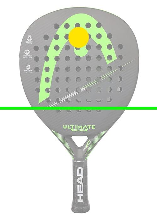 raquette de paddle tennis diamant zone d'impact