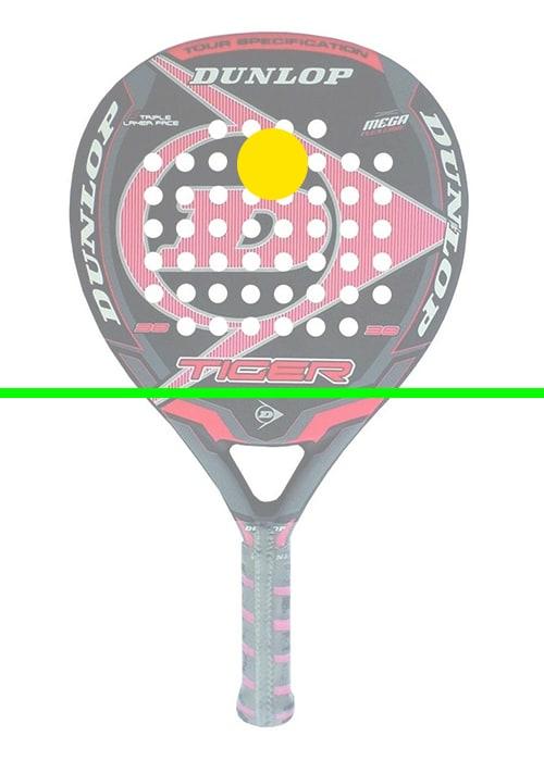 raquette de paddle tennis goutte d'eau zone d'impact