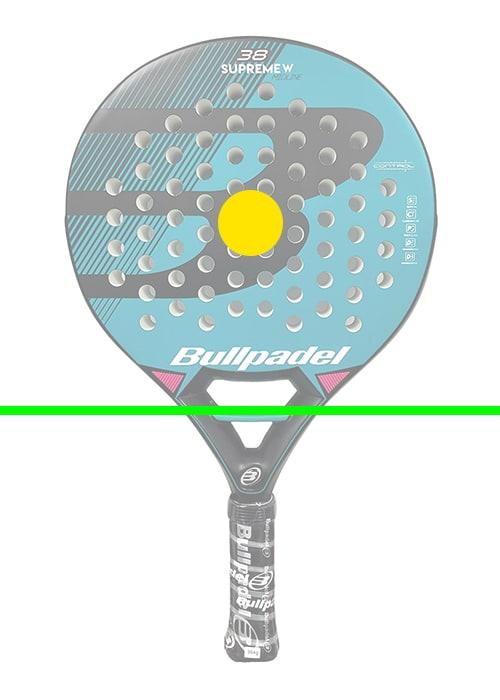 raquette de paddle tennis ronde zone d'impact